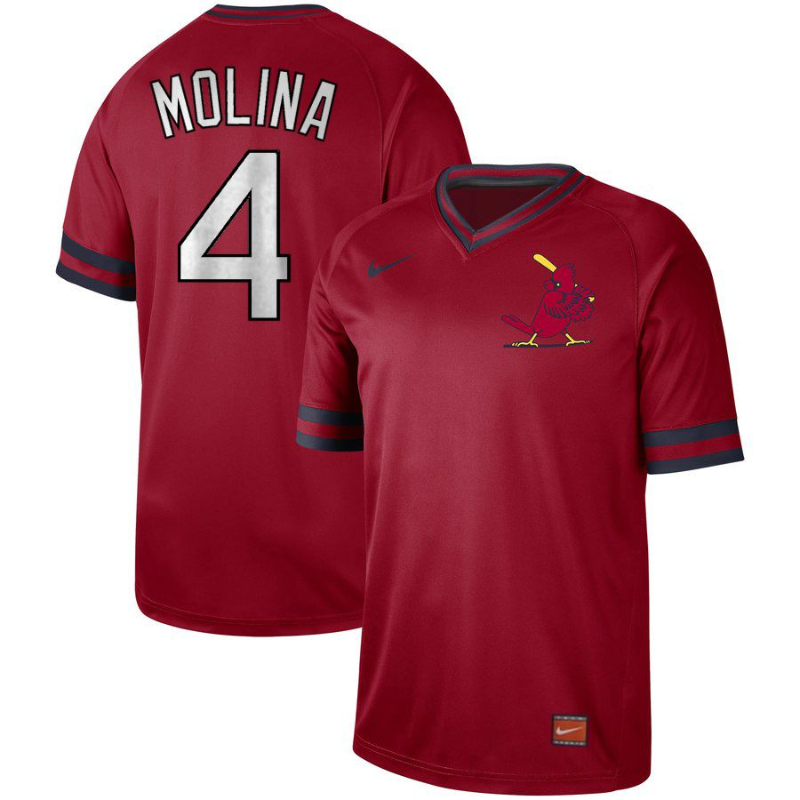 2019 Men MLB St.Louis Cardinals 4 Molina red Nike Cooperstown Collection Jerseys
