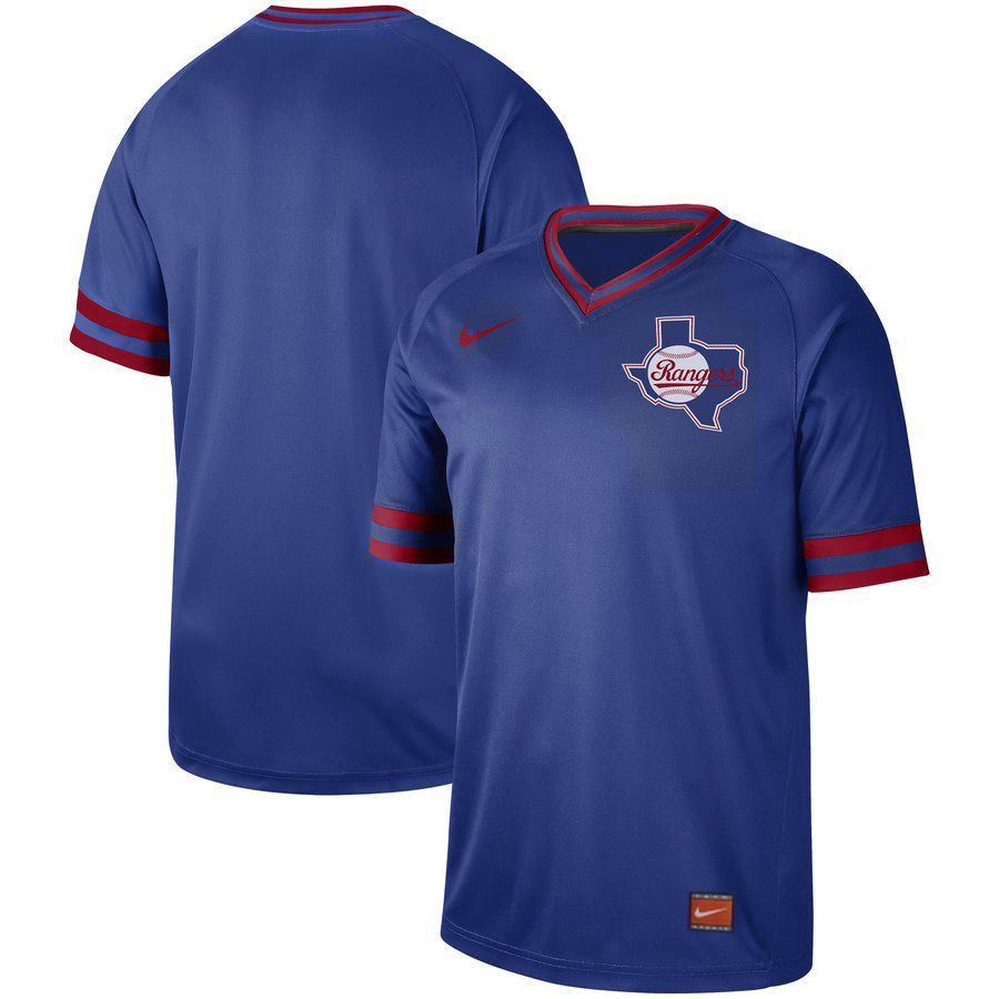 2019 Men MLB Texas Rangers blank blue Nike Cooperstown Collection Jerseys