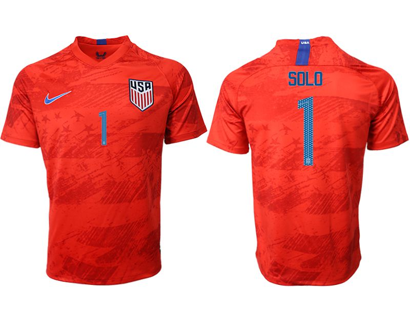 Men 2019-2020 Season National Team United States away aaa version 1 red Soccer Jerseys