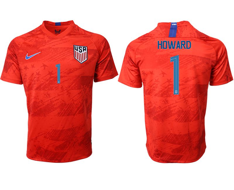 Men 2019-2020 Season National Team United States away aaa version 1 red Soccer Jerseys1