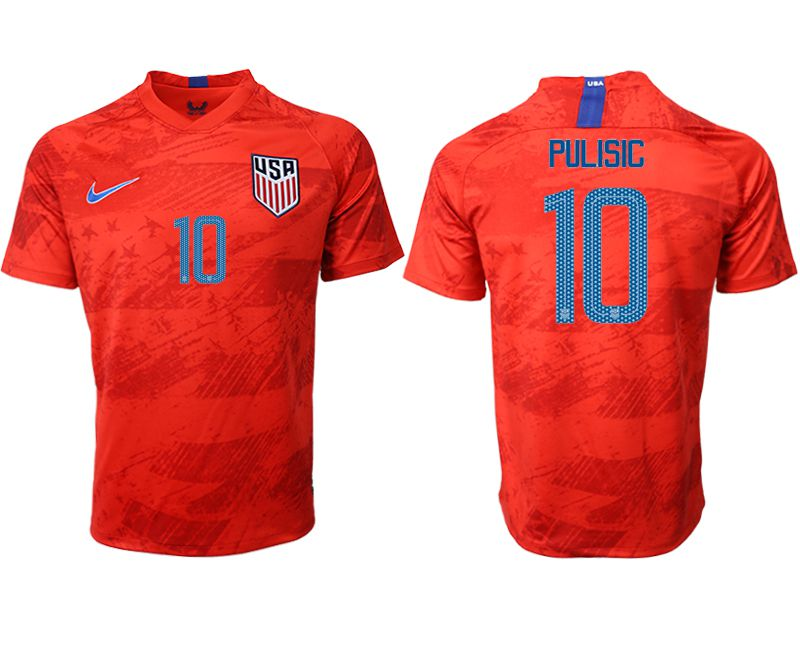 Men 2019-2020 Season National Team United States away aaa version 10 red Soccer Jerseys1