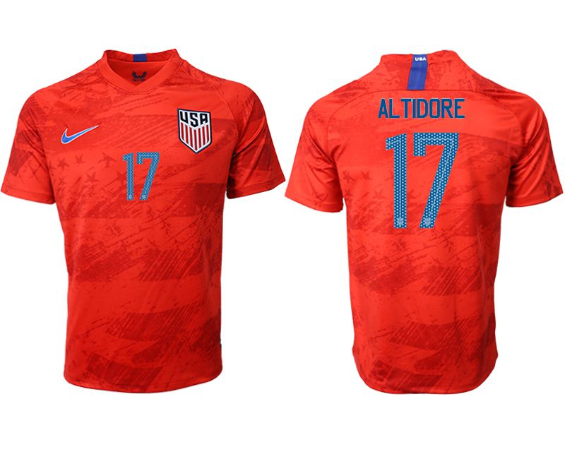 Men 2019-2020 Season National Team United States away aaa version 17 red Soccer Jerseys