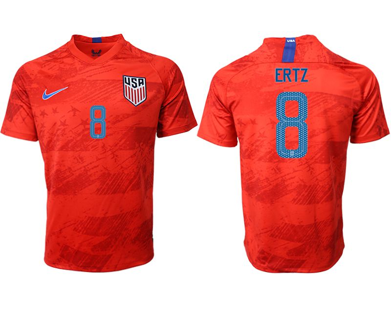 Men 2019-2020 Season National Team United States away aaa version 8 red Soccer Jerseys1