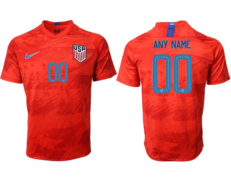 Men 2019-2020 Season National Team United States away aaa version customized red Soccer Jerseys