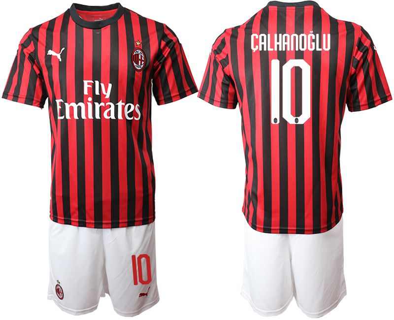 Men 2019-2020 club AC milan home 10 red Soccer Jerseys
