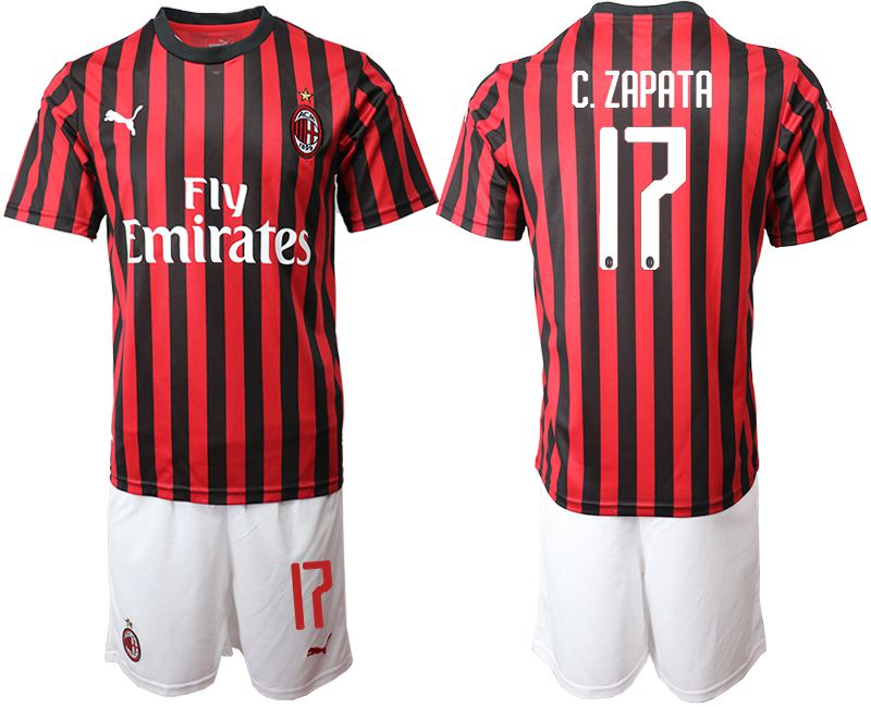 Men 2019-2020 club AC milan home 17 red Soccer Jerseys