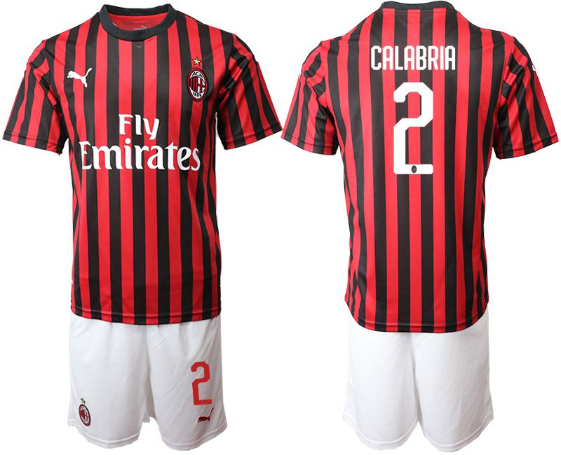 Men 2019-2020 club AC milan home 2 red Soccer Jerseys