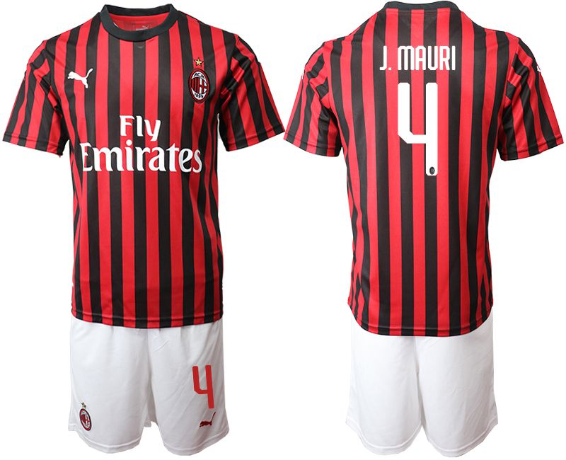Men 2019-2020 club AC milan home 4 red Soccer Jerseys