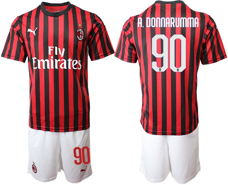 Men 2019-2020 club AC milan home 90 red Soccer Jerseys