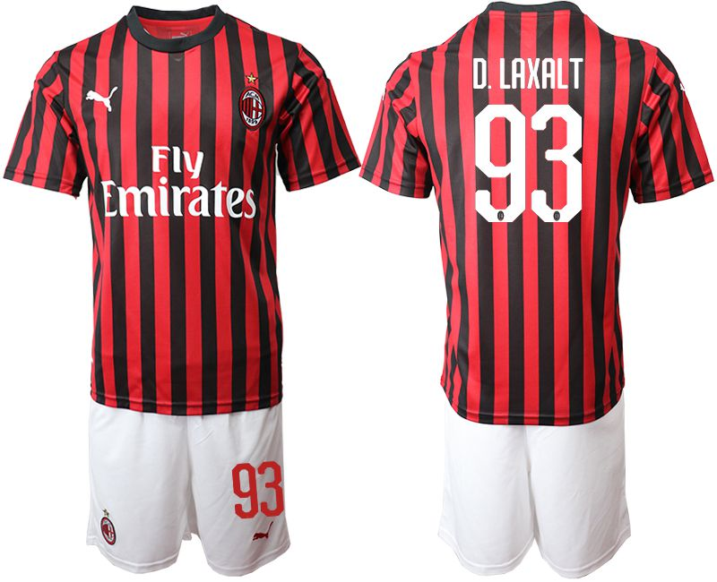 Men 2019-2020 club AC milan home 93 red Soccer Jerseys
