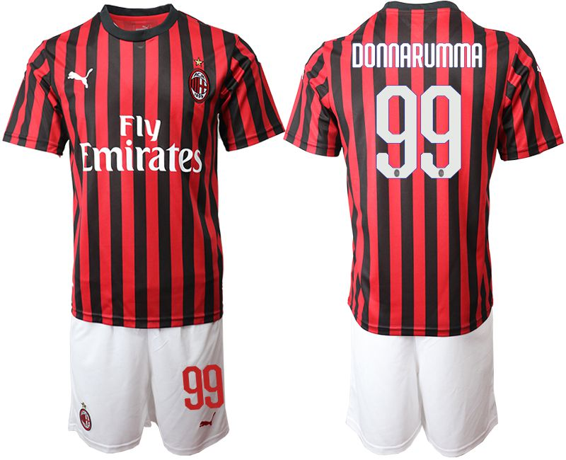 Men 2019-2020 club AC milan home 99 red Soccer Jerseys
