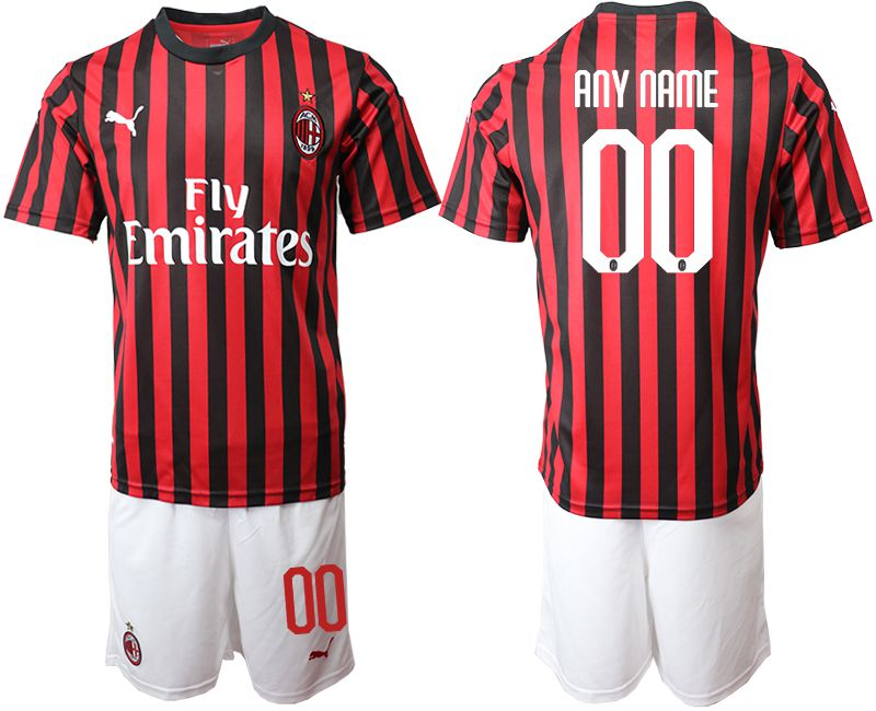 Men 2019-2020 club AC milan home customized red Soccer Jerseys