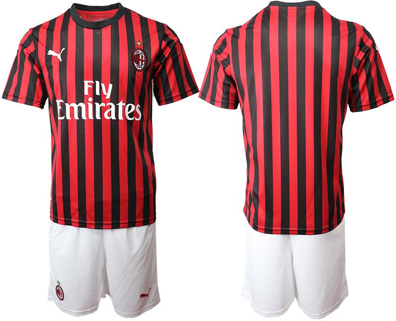 Men 2019-2020 club AC milan home red Soccer Jerseys