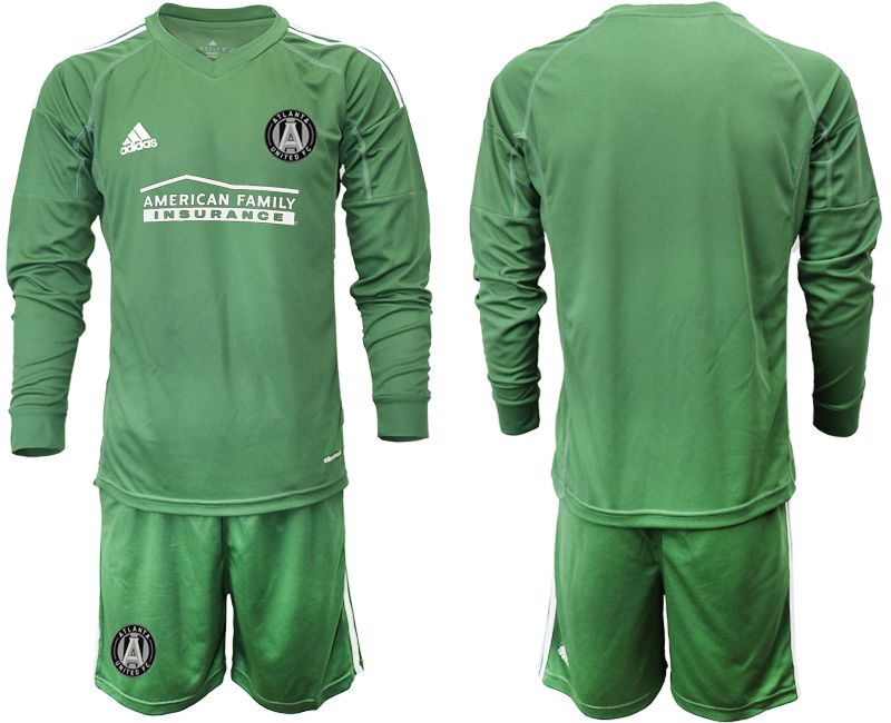 Men 2019-2020 club Atlanta United FC army green long sleeve goalkeeper Soccer Jerseys