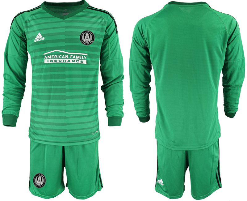 Men 2019-2020 club Atlanta United FC green long sleeve goalkeeper Soccer Jerseys