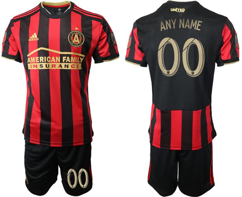 Men 2019-2020 club Atlanta United FC home any name customized black Soccer Jerseys