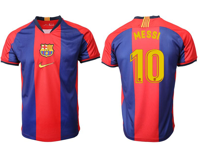 Men 2019-2020 club Barcelona home aaa version 10 red Soccer Jerseys