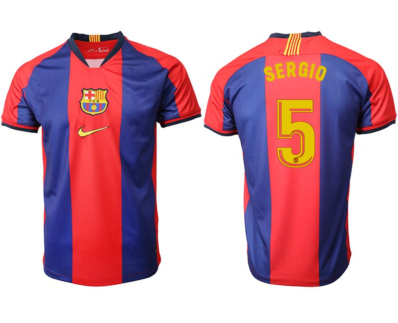 Men 2019-2020 club Barcelona home aaa version 5 red Soccer Jerseys
