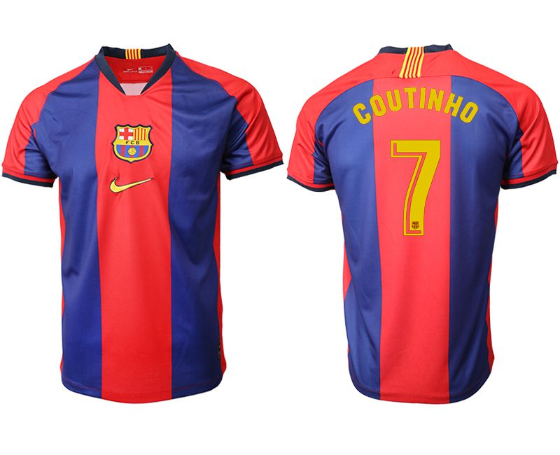 Men 2019-2020 club Barcelona home aaa version 7 red Soccer Jerseys