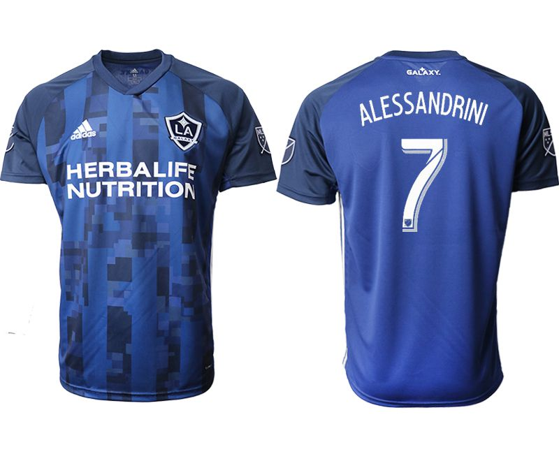 Men 2019-2020 club Los Angeles Galaxy away aaa version 7 blue Soccer Jerseys