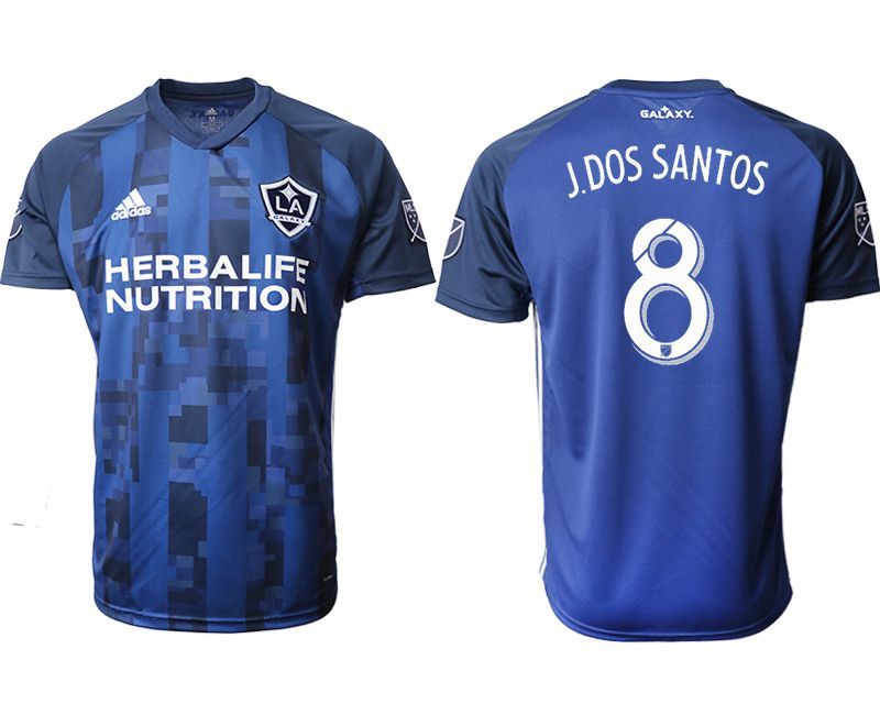 Men 2019-2020 club Los Angeles Galaxy away aaa version 8 blue Soccer Jerseys