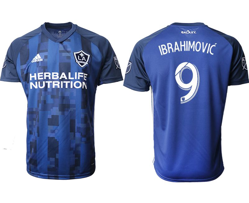 Men 2019-2020 club Los Angeles Galaxy away aaa version 9 blue Soccer Jerseys