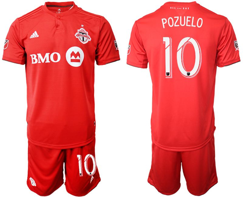 Men 2019-2020 club Toronto FC home 10 red Soccer Jerseys