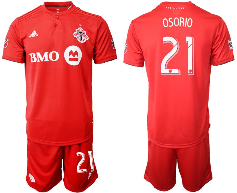 Men 2019-2020 club Toronto FC home 21 red Soccer Jerseys