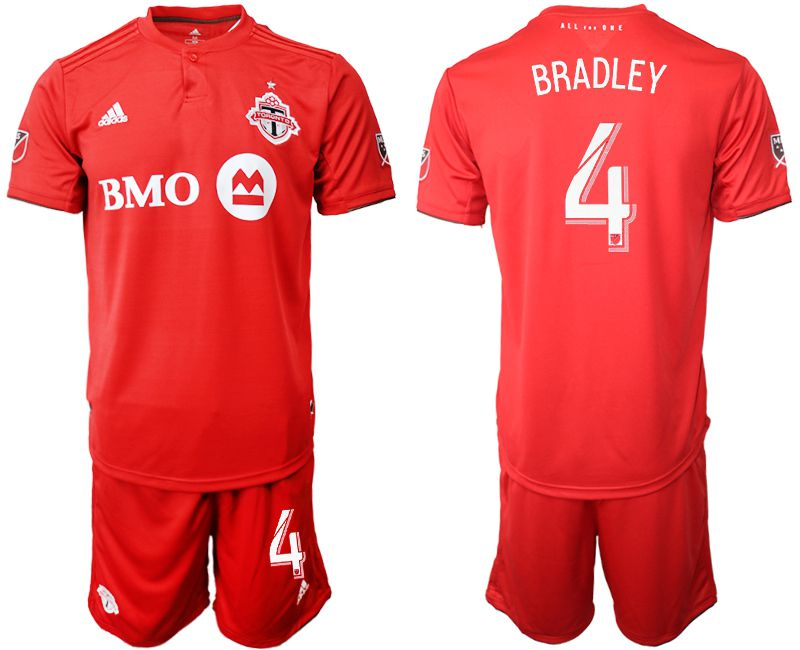 Men 2019-2020 club Toronto FC home 4 red Soccer Jerseys