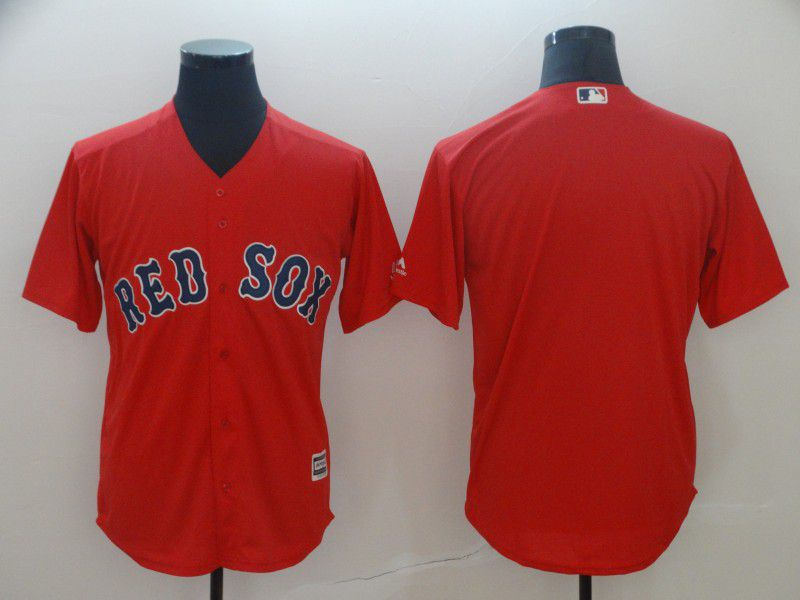 Men Boston Red Sox Blank Red Game MLB Jerseys