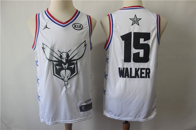 Men Charlotte Hornets 15 Walker White 2019 All Star NBA Jerseys