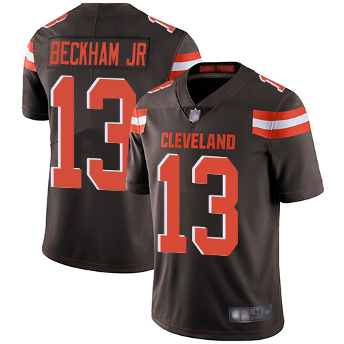 Men Cleveland Browns 13 Beckham Jr Brown Nike Vapor Untouchable Limited NFL Jerseys