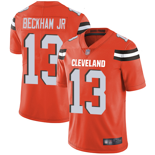 Men Cleveland Browns 13 Beckham Jr Orange Nike Vapor Untouchable Limited NFL Jerseys