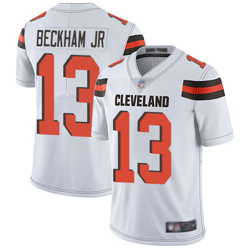 Men Cleveland Browns 13 Beckham Jr White Nike Vapor Untouchable Limited NFL Jerseys