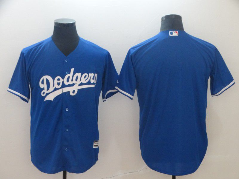 Men Los Angeles Dodgers Blank Blue Game MLB Jerseys