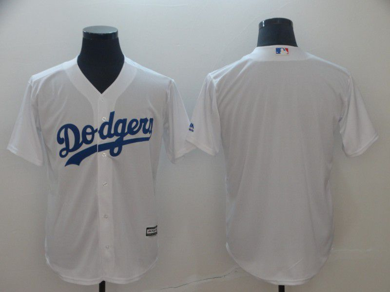 Men Los Angeles Dodgers Blank White Game MLB Jerseys