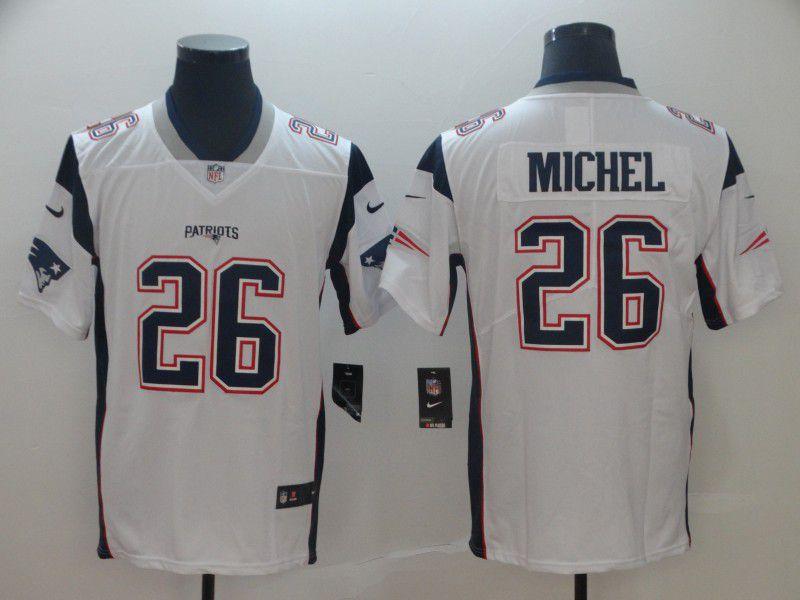 250284687e861 Men New England Patriots 26 Michel White Nike Vapor Untouchable Limited  Player NFL Jerseys