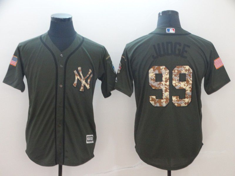 Men New York Yankees 99 Judge Green Game MLB Jerseys