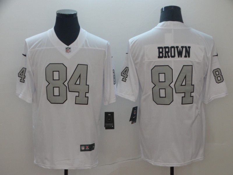 Men Oakland Raiders 84 Brown White Nike Vapor Untouchable Limited NFL Jerseys