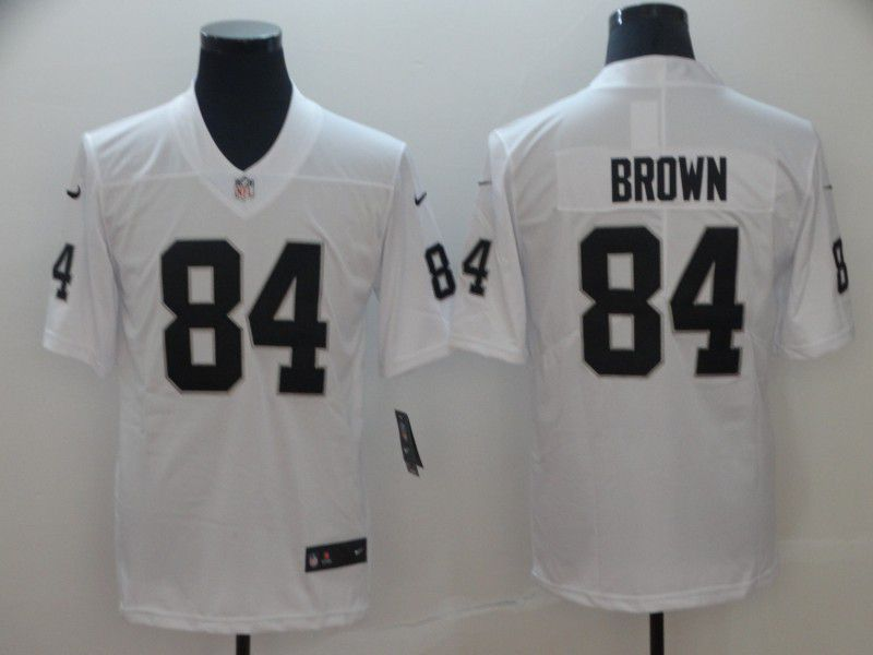 Men Oakland Raiders 84 Brown White Nike Vapor Untouchable Limited NFL Jerseys1