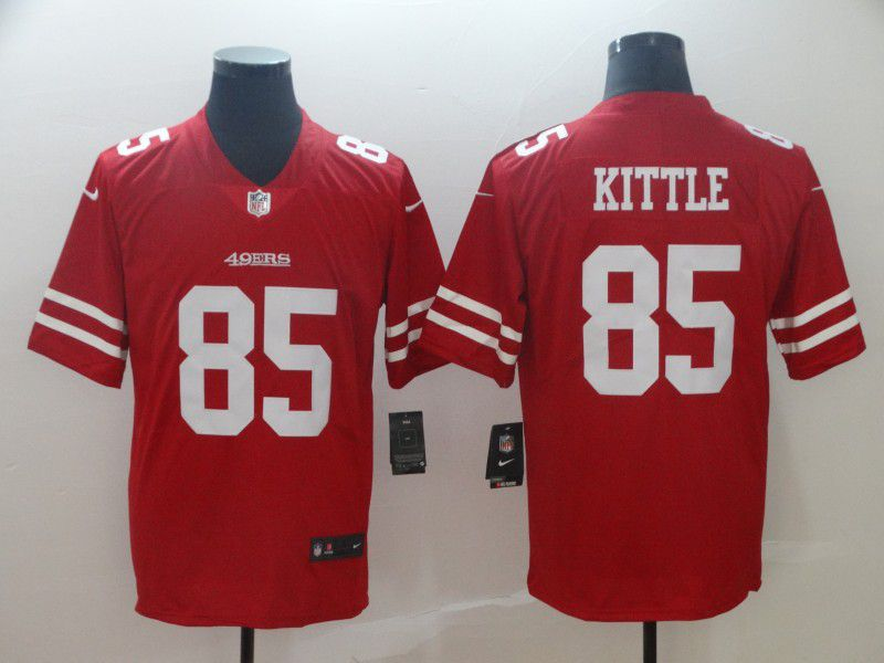 Men San Francisco 49ers 85 Kittle Red Nike Vapor Untouchable Limited Player NFL Jerseys