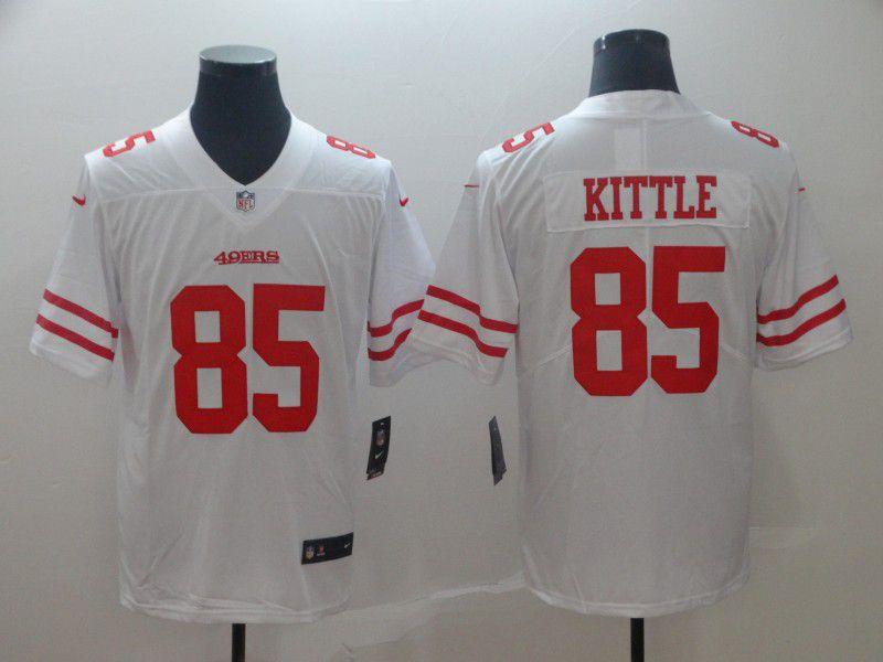 6e4f0fadedc Men San Francisco 49ers 85 Kittle White Nike Vapor Untouchable Limited  Player NFL Jerseys