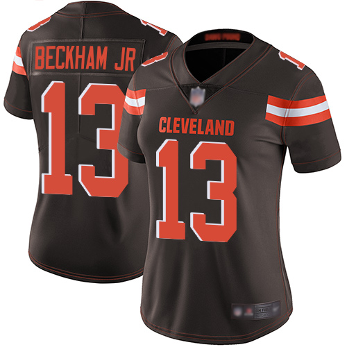 Women Cleveland Browns 13 Beckham Jr Brown Nike Vapor Untouchable Limited NFL Jerseys