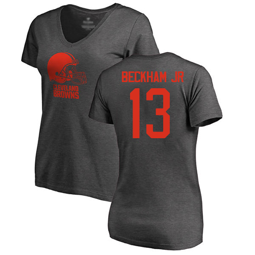Women Cleveland Browns 13 Beckham Jr NFL One Color Nike T-Shirt