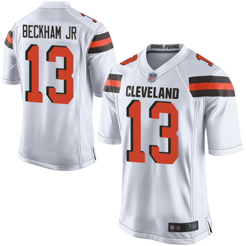 Women Cleveland Browns 13 Beckham Jr White Nike Vapor Untouchable Limited NFL Jerseys