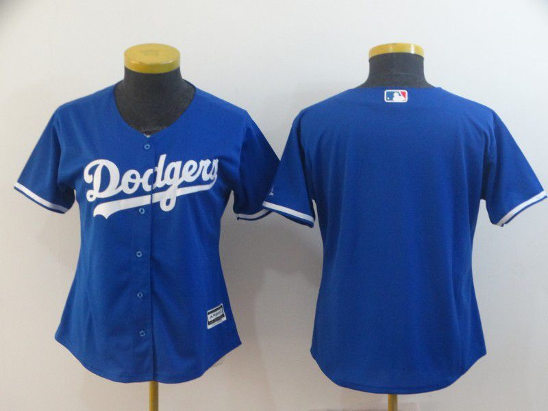 Women Los Angeles Dodgers Blank Blue Game MLB Jerseys
