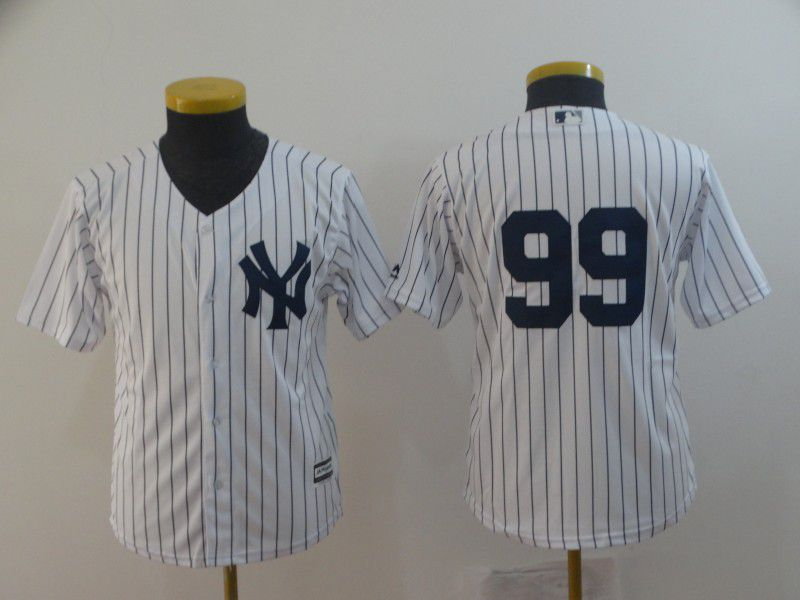 Youth New York Yankees 99 Judge White Game MLB Jerseys