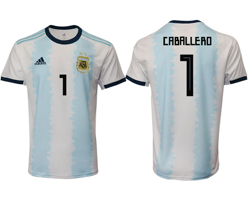 Men 2019-2020 Season National Team Argentina home aaa version 1 blue Soccer Jerseys