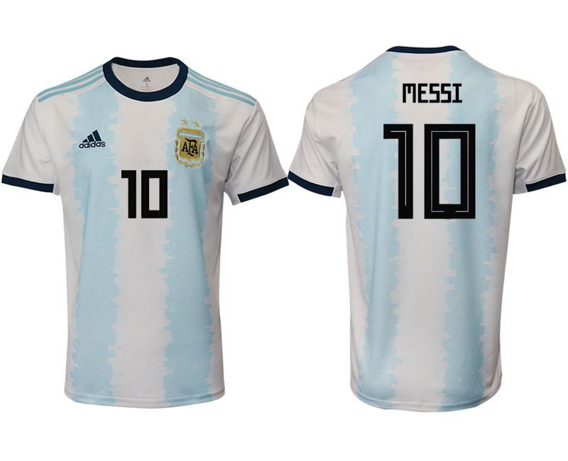 Men 2019-2020 Season National Team Argentina home aaa version 10 blue Soccer Jerseys