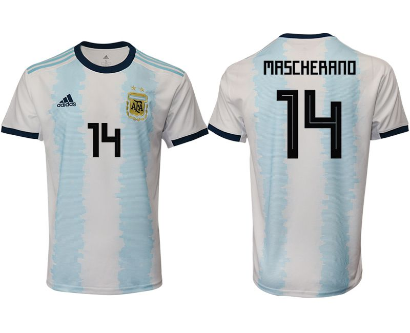 Men 2019-2020 Season National Team Argentina home aaa version 14 blue Soccer Jerseys